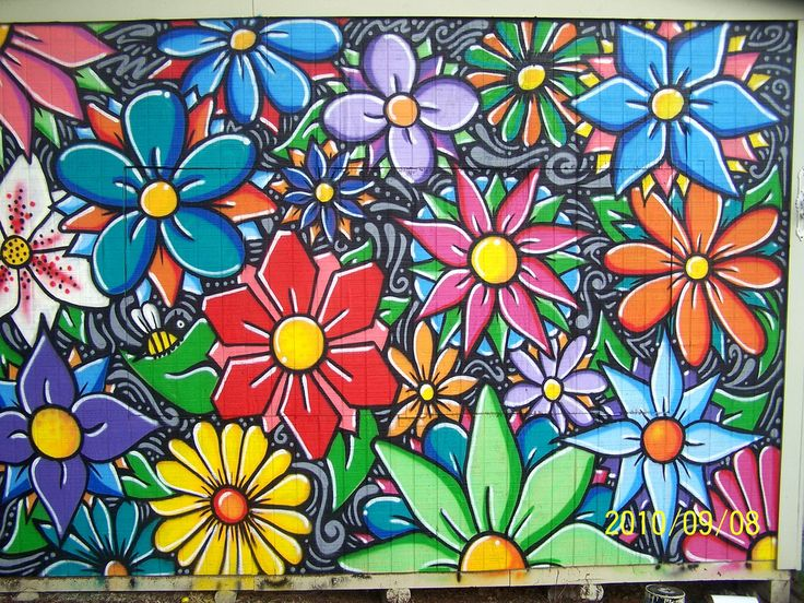 Best 25 flower mural ideas on pinterest murals for Best paint to use for outdoor mural