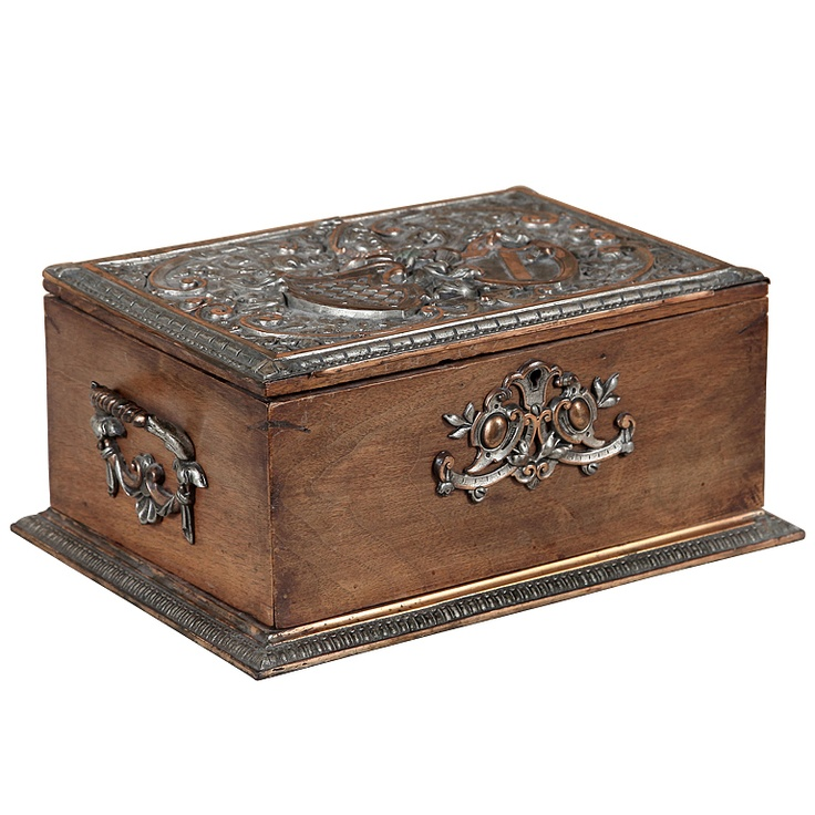 Antique Wooden & Bronze Jewelry Box (via @1stdibs)