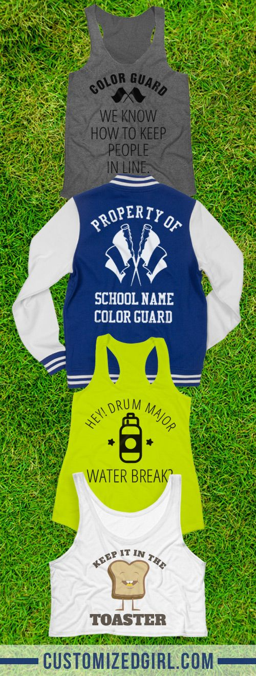 Okay ladies, let's get in formation. Twirl and spin on those haters with custom color guard apparel! #colorguard