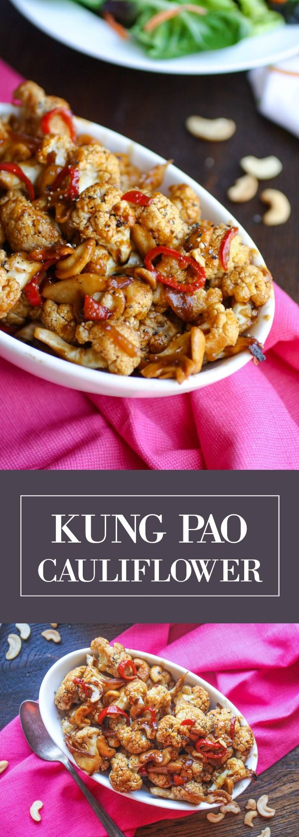 Kung Pao Cauliflower is a delicious, meatless dish you can serve anytime.