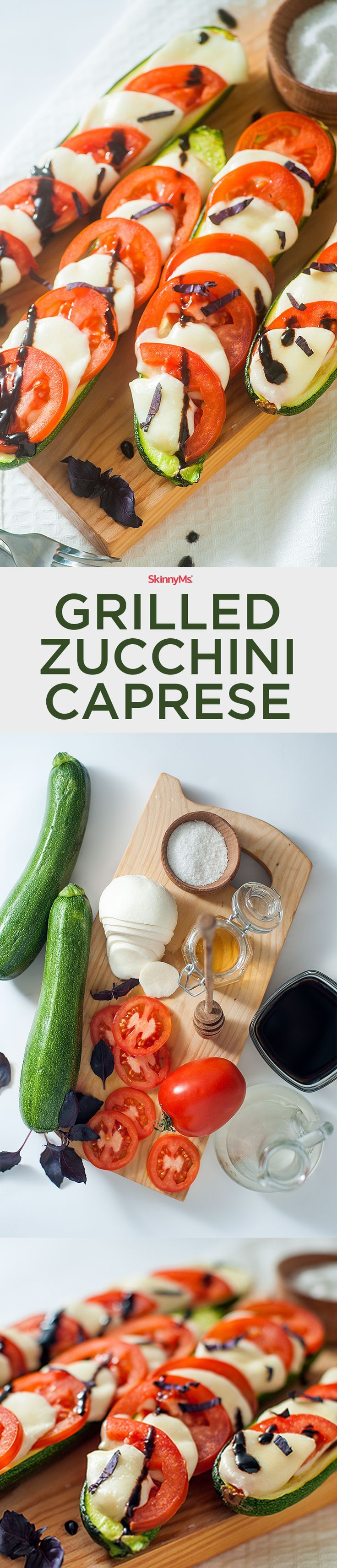 Our Grilled Zucchini Caprese is a new and improved recipe! It includes the same flavors but this time, we�ve served it alongside slices of grilled zucchini!