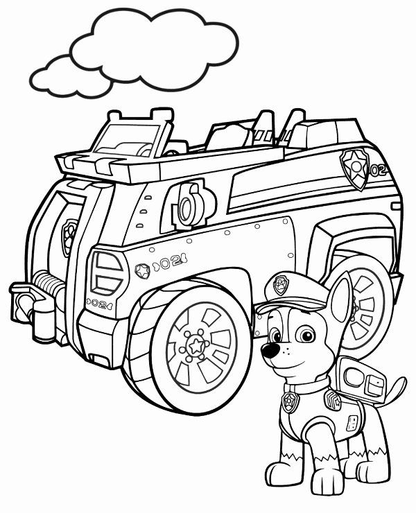 Paw Patrol Chase Coloring Unique Paw Patrol Picture To Color Chase Cars Coloring Pages Paw Patrol Coloring Pages Paw Patrol Coloring