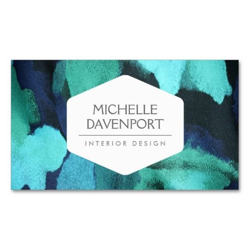INTERIOR DESIGNER, DECORATOR, FLORAL FABRIC BUSINESS CARD