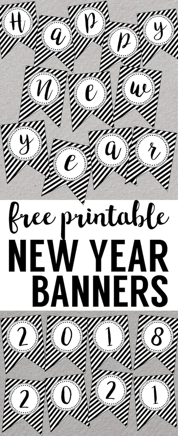 new year decorations diy happy new year banner printable newyear