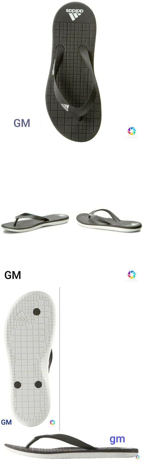 Sandals and Flip Flops 11504: Adidas Performance Eezay Sz13 Thong Black White Men Sandal Flip-Flops New In Box -> BUY IT NOW ONLY: $35 on eBay!