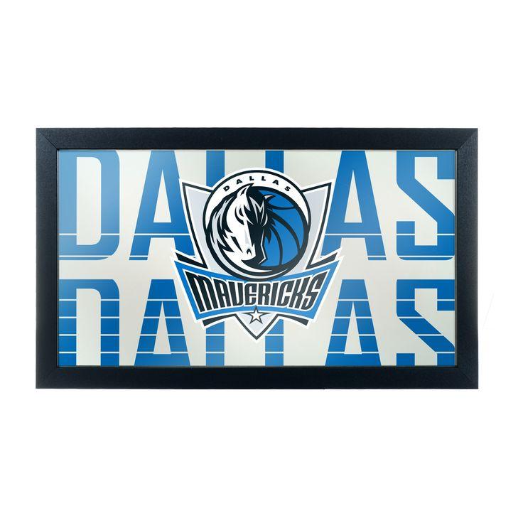 NBA Dallas Mavericks City Framed Logo Mirror