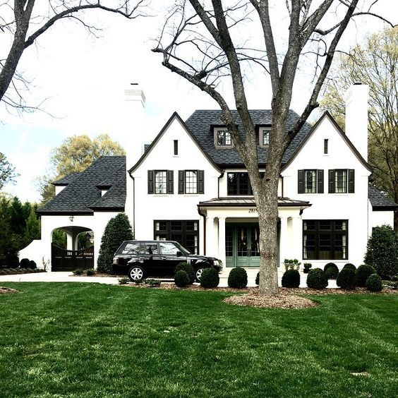 Black and white always right.  Chic and classic exterior.  via McGee studio blog.