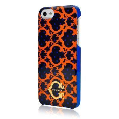 iPhone 5 - C Wonder Dot - Navy & Orange Phone case