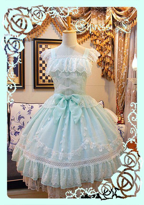 #LolitaUpdate: [-☼☁-The Fog Under the Sunset JSK, only 99.99USD-☼☁-] >>> http://www.my-lolita-dress.com/elpress-l-the-fog-under-the-sunset-lolita-jumper-dress-el-24