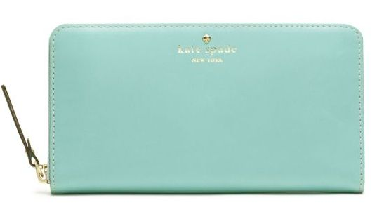 To replace my old wallet, I got this adorable one from Kate Spade - the Mercer Street Lacey Wallet.