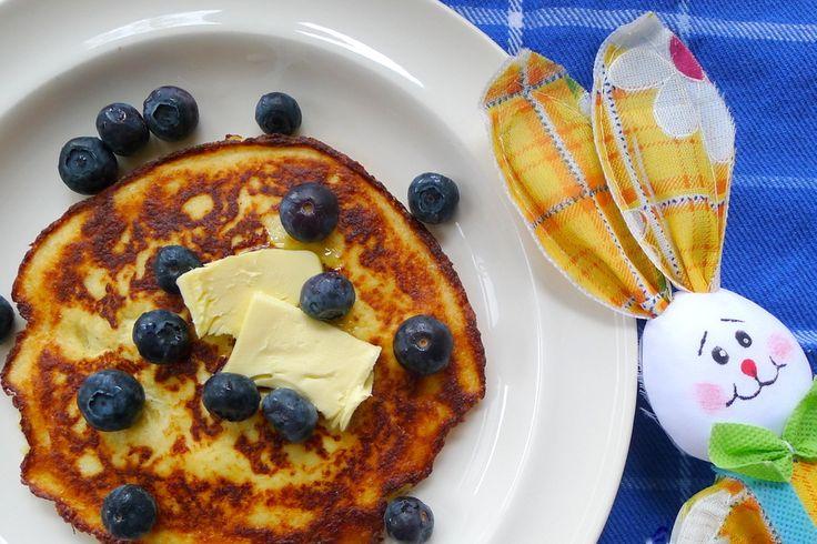Koolhydraatarme pannenkoek met hüttenkäse recept ~ minder koolhydraten, maximale smaak ~ www.con-serveert.nl