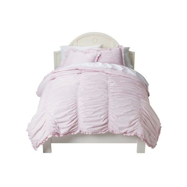 Simply Shabby Chic® Ruched Comforter Set : Target ❤ liked on Polyvore featuring home, bed & bath, bedding, comforters, ruched comforter set, shabby chic bedding, shabby chic comforter sets, ruched comforter and shabby chic style bedding