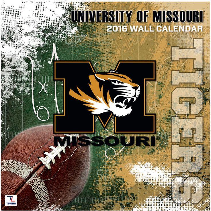 """Missouri Tigers 2016 12"""" x 12"""" Wall Calendar"""