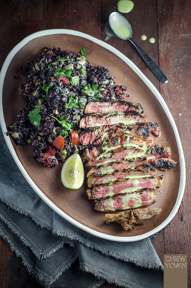 Mexican Steak with Black Rice Salad | Chew Town Food Blog