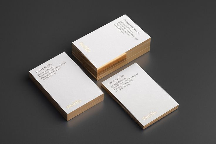Gold foiled business card by Mucho for leading Spanish auction house Balclis
