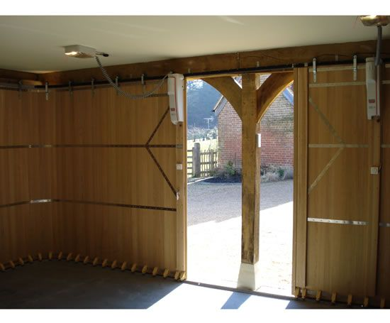 how to build sliding garage doors