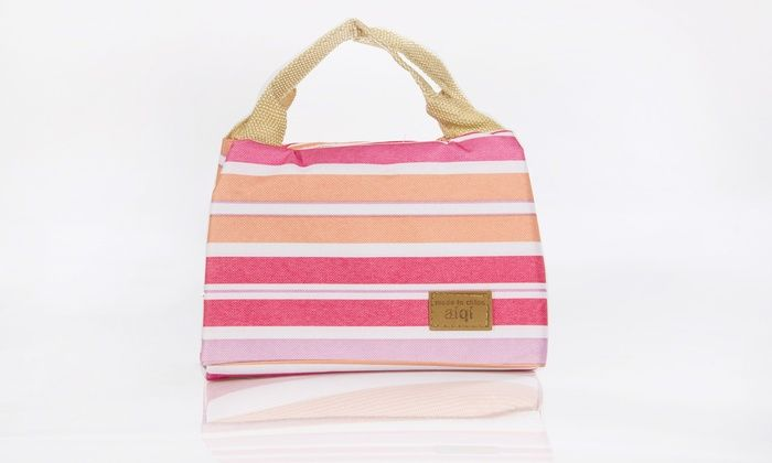 Groupon Goods Global GmbH: Striped Thermal Lunch Bag from £3.98 (Up to 77% Off)