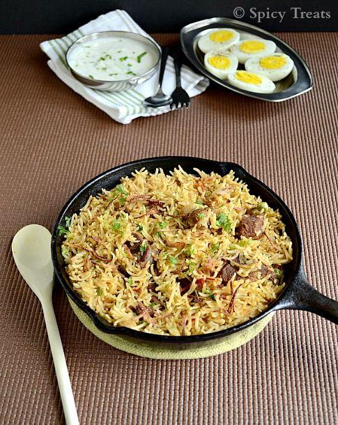 Spicy Treats: Mutton Biryani / Easy Mutton Biryani Recipe / Mutton Recipes