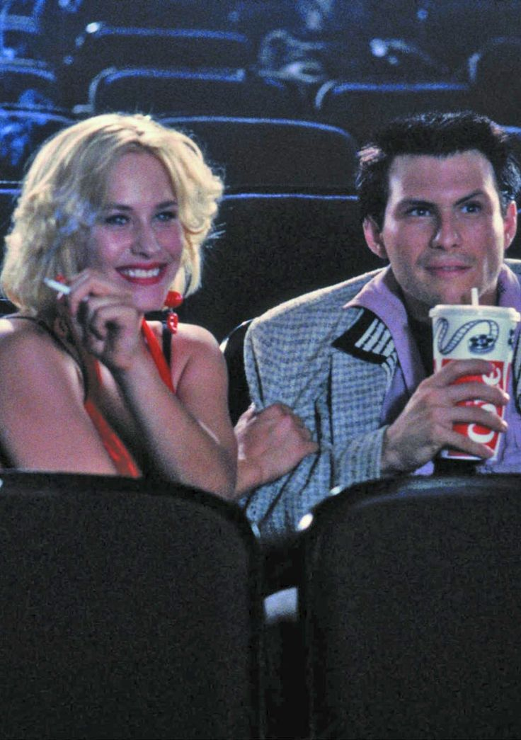 Patricia Arquette and Christian Slater as Alabama Whitman and Clarence Worley in True Romance.