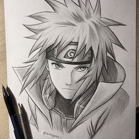 30 min sketch of Minato⚡✌✌ hope you like it! - My school is finally over guuyss! Time for the summer holidays, so excited!