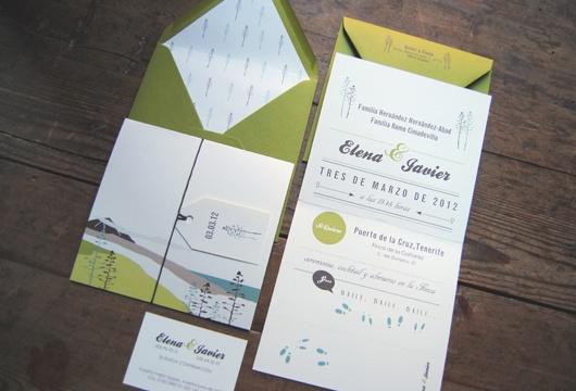 Invitación de boda campestre de Empapel+ada