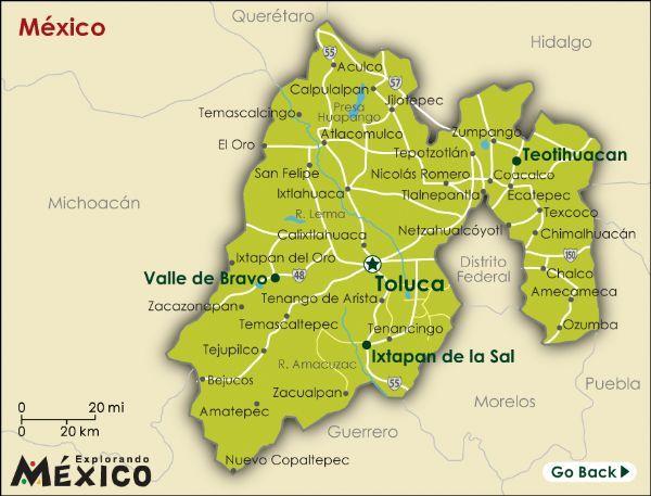 Estado De Mexico Mexico | las elecciones en el estado de mexico de 2009 se llevaron acabo el ...***#25 MEXICO STATE BY AREA*** ***CAPITAL-TOLUCA de LERDO***