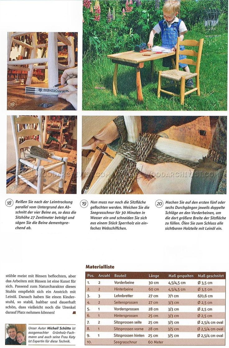 Rustic Kids Chair Plans - Children's Furniture Plans