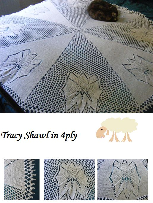 Shawls in 4ply - MAYBE BABY DESIGNS Knitting Patterns for Baby