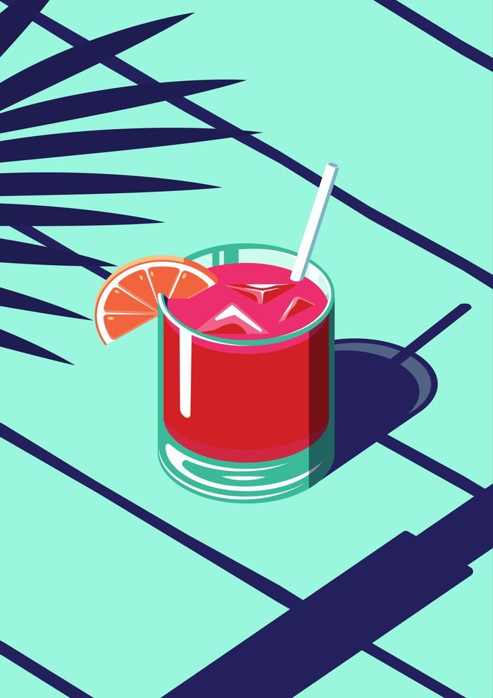 An Isometric Cocktail Art Print by Coen Pohl | Society6