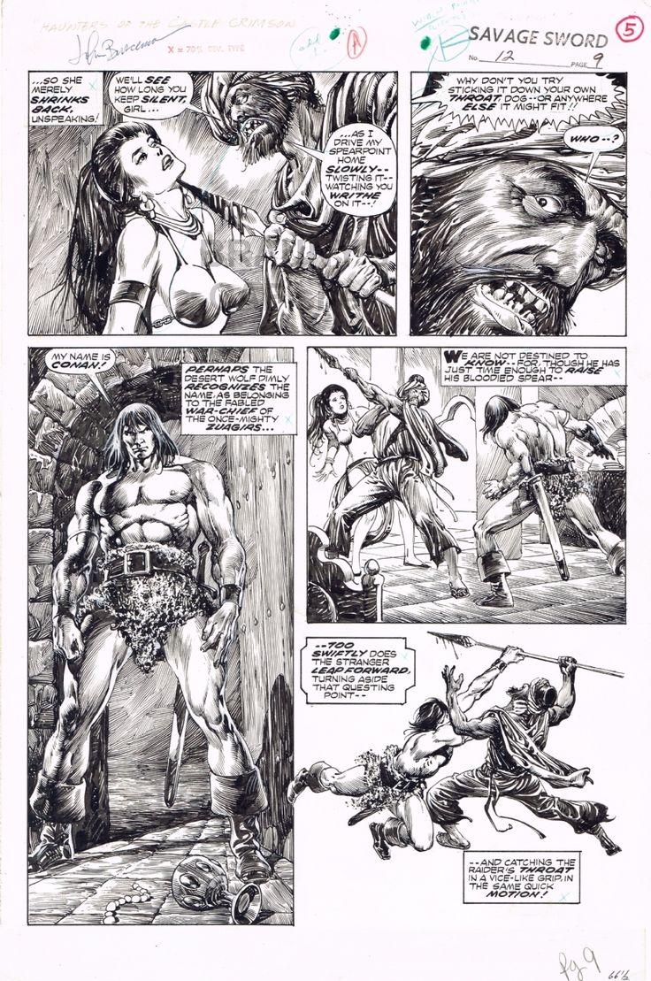 BUSCEMA, John / ALCALA, Alfredo  SSOC 12 pp9  Savage Sword of Conan Comic Art