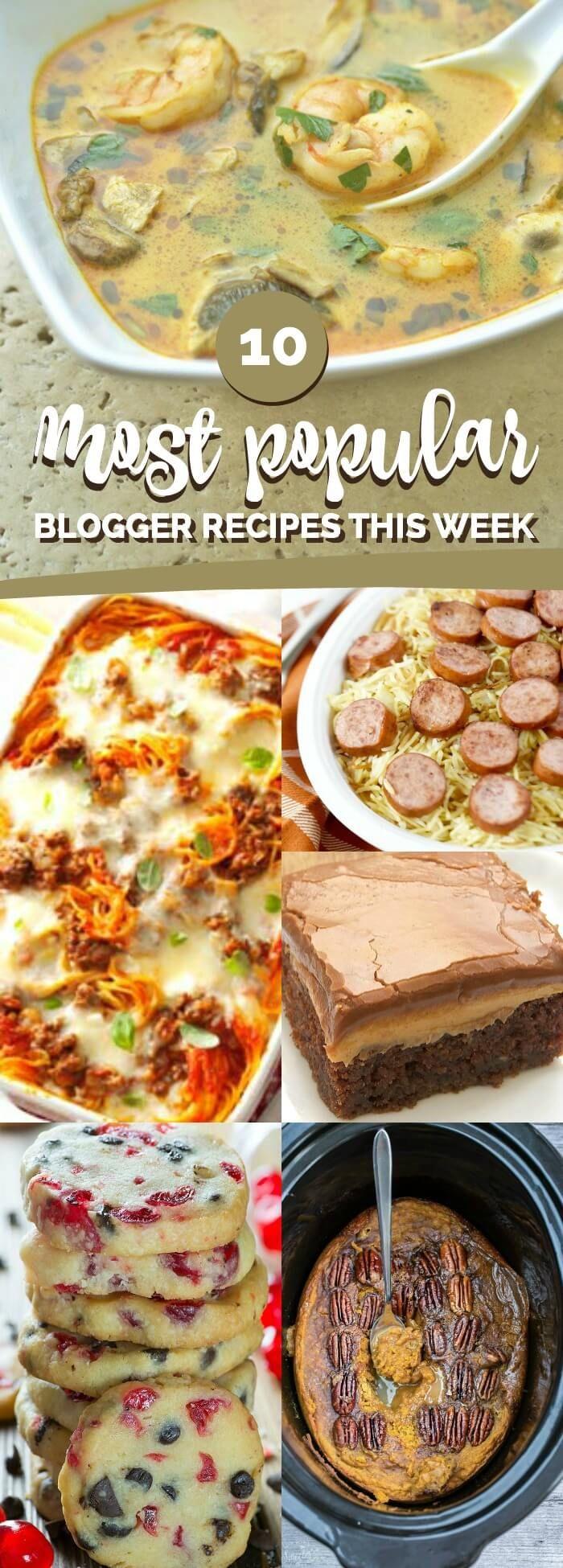 10 Most Popular Recipes this Week: October 21 via @spaceshipslb