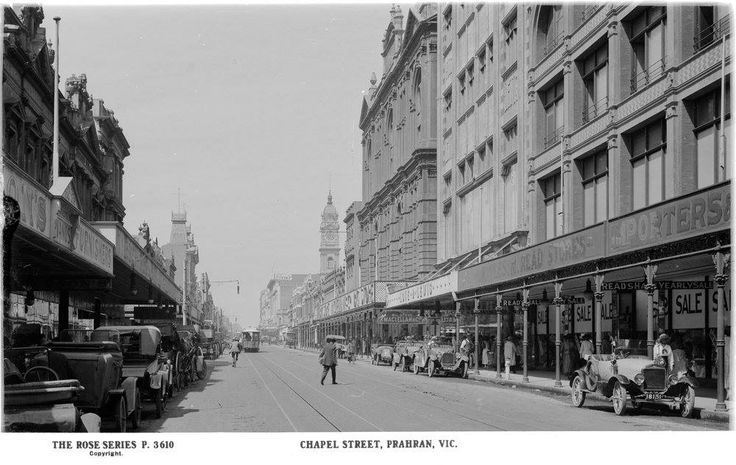 Chapel Street, Prahran in the 1920s.  Not a beggar, busker or charity collector in sight.