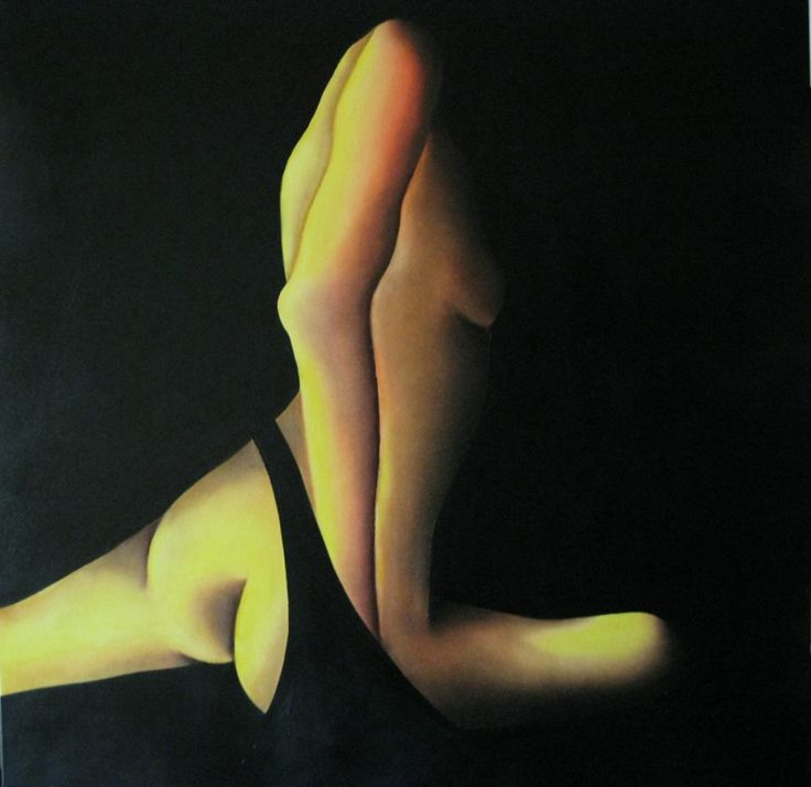 """corpo libero"" olio su tela cm 100x100"