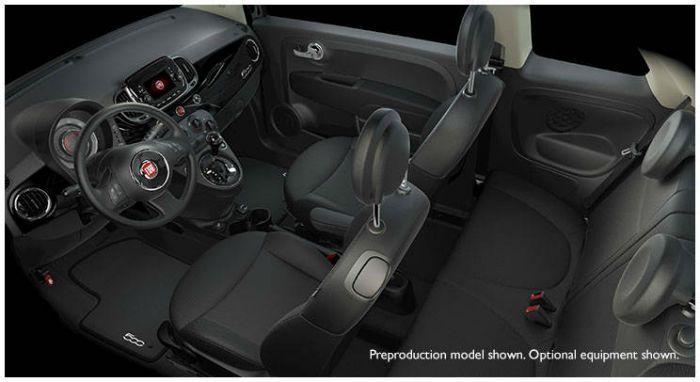 2017 Fiat 500 Pop Black Interior