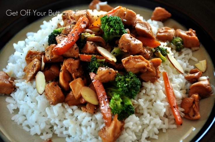 BROCCOLI and CHICKEN STIR-FRY » Get Off Your Butt and BAKE