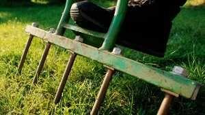 vertikutieren. So bringen Sie Ihren Rasen wieder in Form. (Quelle: imago/Redeleit)