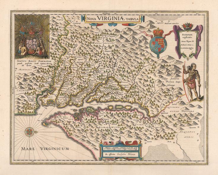 1640 Nova Virginiae Tabula