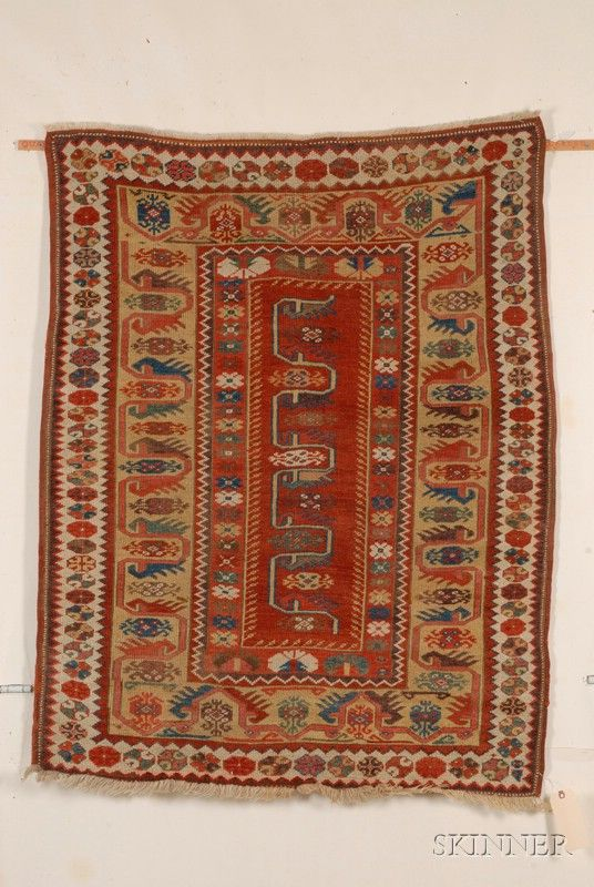 Melas Rug, Southwest Anatolia, second half 19th century,  4 ft. 5 in. x 3 ft. 6 in.   | Skinner Auctioneers Sale 2436