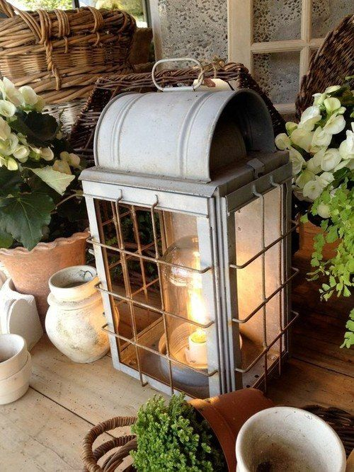 Lanterns for a country house, decoration in autumn # lanterns # decoration # house # autumn