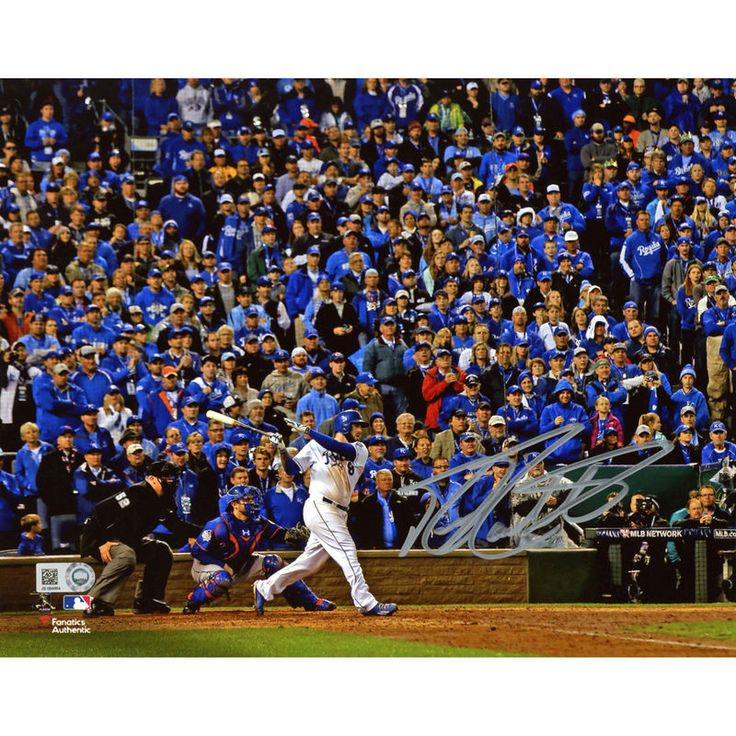 "Mike Moustakas Kansas City Royals Fanatics Authentic 2015 MLB World Series Champions Autographed 8"" x 10"" World Series Photograph"