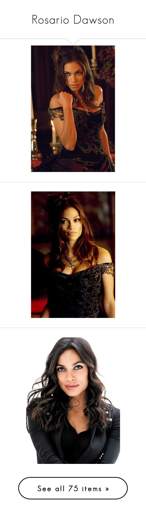"""""""Rosario Dawson"""" by nataliemcmahan ❤ liked on Polyvore featuring celeb, people, backgrounds, editorials, rosario dawson, rosario and girls"""