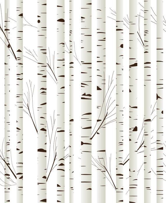 Birch Tree Removable Wallpaper Woodland Nursery Nursery Wall Etsy Decorazioni Della Parete Parete Decorazioni