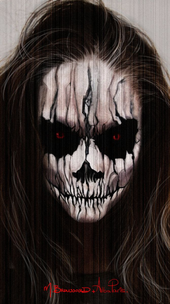scary cool halloween make up idea but it might scare the little kids halloween makeup - Halloween Skull Face Paint Ideas