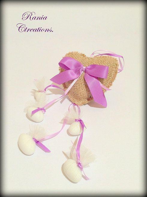 Rustic favor bag.Rustic wedding favor bag.Burlap by RaniaCreations
