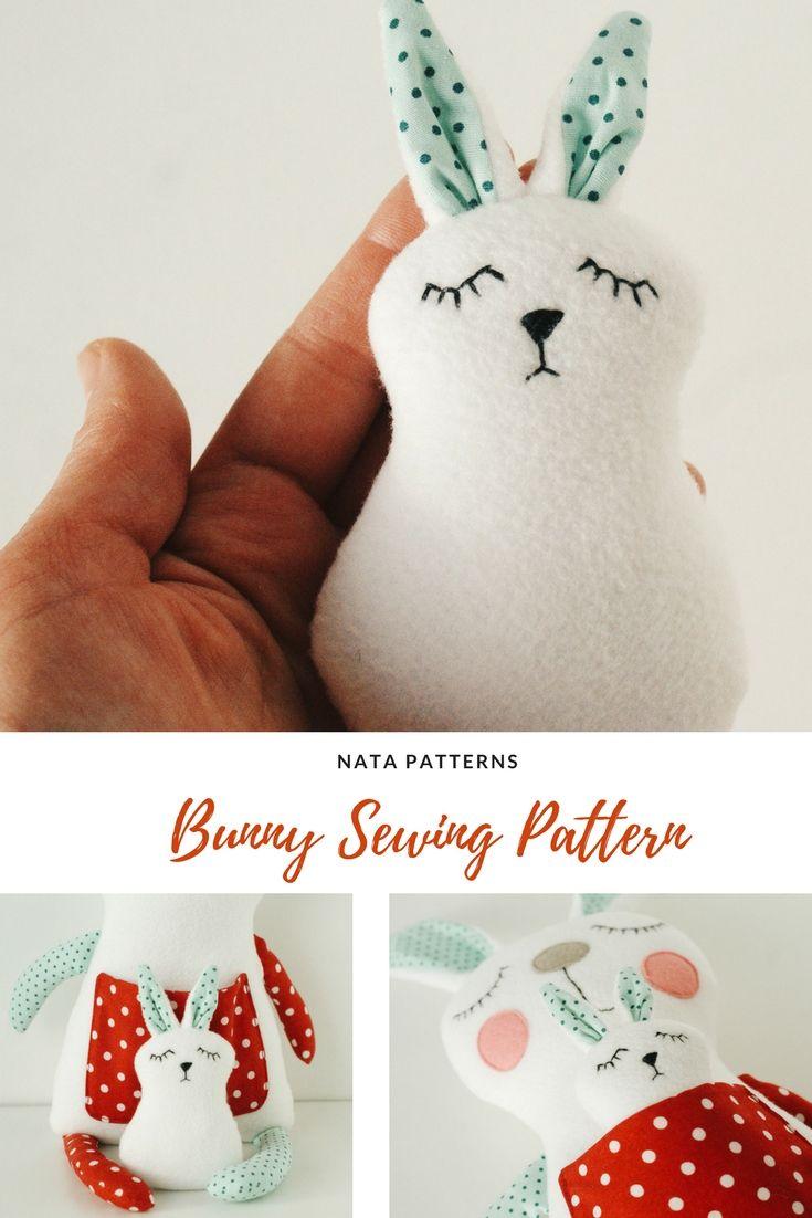 Artist Bunny Sewing Pattern PDF Artist Rabbit Toy Making Pattern Soft Animal Pattern