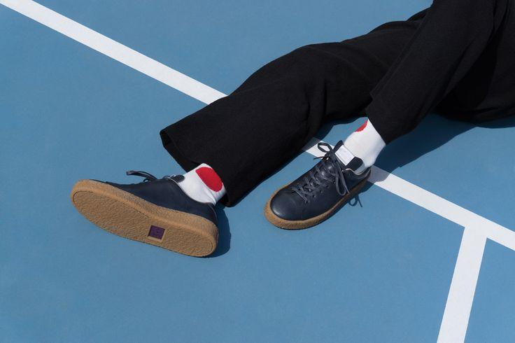 #Eytys Ace sneakers in Navy/Gum.