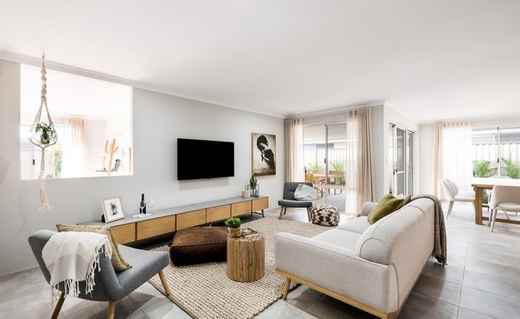 The spacious family living zones are flooded with natural light
