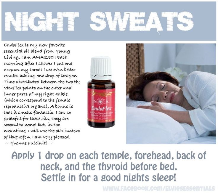 Night Sweats EndoFlex helps by balancing the hormones. Jill Klasen, YL#1276056 - The Oil Shop Facebook: https://www.facebook.com/pages/The-Oil-Shop/459837987388420 Email: jilljklasen@gmail.com