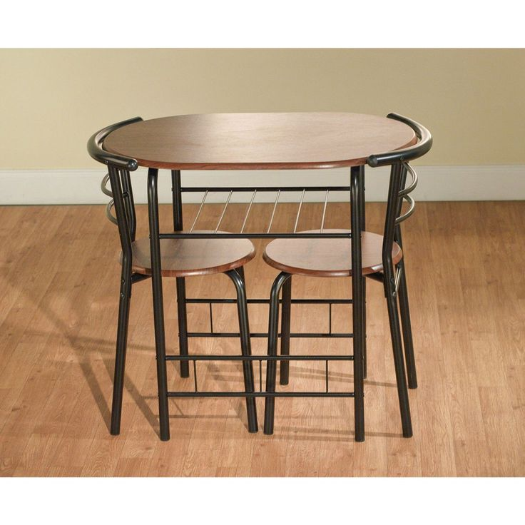 Dining Table Set For 2 Bistro Indoor Counter Height Bar Pub Style 3 Pc Kitchen Product Description: Add a functional and informal touch to your space with this three-piece Bistro Set. The table top an