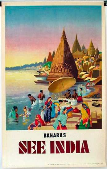 DP Vintage Posters - Banaras India Original Vintage Travel Poster